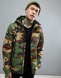 Read more about The north face millerton jacket hooded waterproof in green camo print - woodland camo
