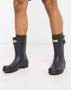 Read more about Hunter original short wellies in black - black