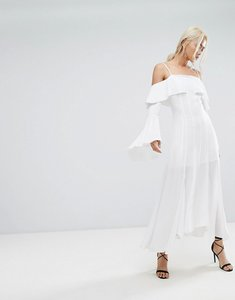Read more about C meo collective compose ruffle maxi dress - ivory