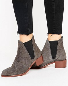 Read more about H by hudson mid heel suede chelsea boot - grey embossed