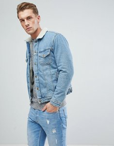 Read more about Jack jones intelligence denim jacket with full borg lining - denim 309