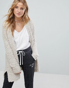 Read more about Hollister popcorn soft knit cardigan - oatmeal