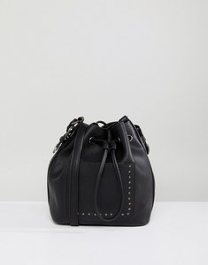 Read more about Asos western duffle cross body bag with studs - black