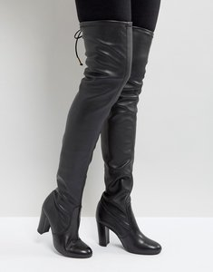 Read more about Dune sybil leather over knee boots - black leather