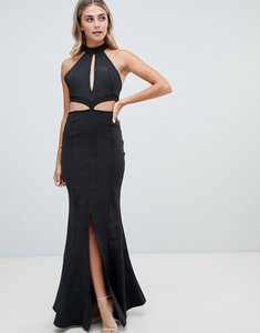Read more about Missguided bandage keyhole maxi dress - black