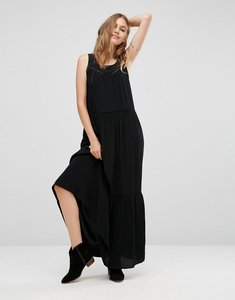Read more about Maison scotch mesh insert maxi dress - 90- black