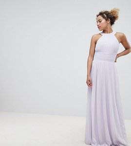 021b3cc071e Read more about Tfnc petite wedding high neck pleated maxi dress - lilac
