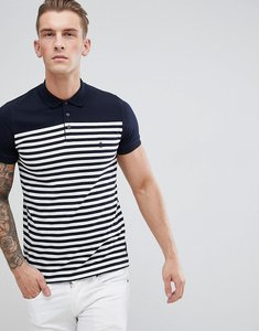 Read more about French connection stripe polo - marine white