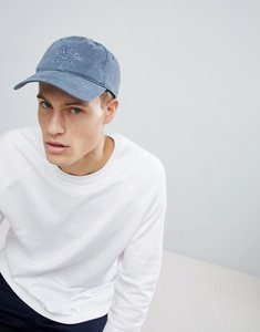 Read more about Hollister twill canvas logo dad baseball cap in to washed navy - navy