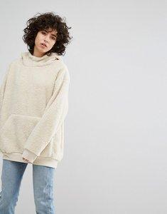 Read more about Weekday teddy hoodie - beige