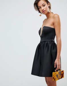 Read more about Asos design bandeau mini prom dress with gold bar detail