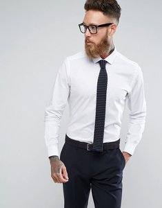 Read more about Moss london skinny smart shirt with stretch - white