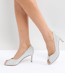 Read more about Asos summer mid heels - silver glitter