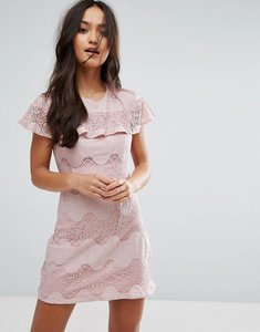 Read more about Love other things mini dress with lace frill - pink