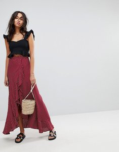 Read more about Flynn skye ruffle maxi skirt - polka passion