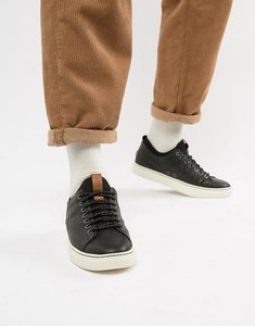Read more about Polo ralph lauren dunovin leather sock trainers in black