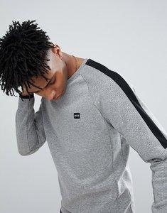 Read more about Jack jones core sweatshirt with cut and sew panels - light grey melange