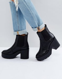 Read more about New look chunky heeled chelsea boot - black