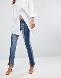 Read more about Blank nyc split seam skinny jean - miss matched blue