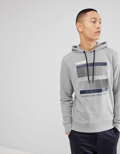 Read more about Jack jones logo sweat hoodie - grey