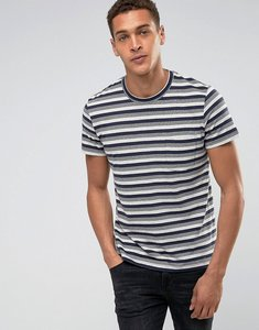 Read more about Esprit t-shirt with multi fleck stripe detail - navy 400