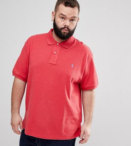 Read more about Polo ralph lauren big tall pique polo player logo in red marl - sentry red heather