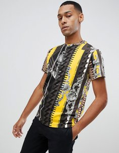 Read more about Versace jeans t-shirt in blue baroque print