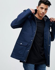Read more about Threadbare hooded coat with toggles - navy