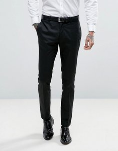 Read more about Asos super skinny tuxedo suit trousers in black - black