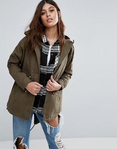 Read more about Ax paris lightweight parka coat - khaki