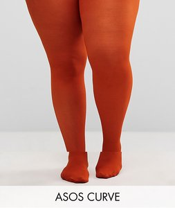 Read more about Asos curve 40 denier tights in rust - tobacco