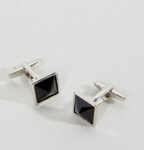 Read more about Designb square cufflinks collar tips exclusive to asos - black