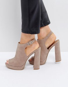 Read more about Asos hail shoe boot platforms - taupe