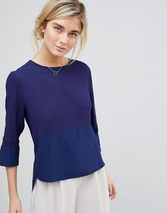 Read more about See u soon shell top with split back - navy