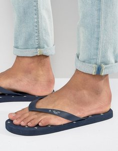 Read more about Original penguin flip flops with all over print - blue