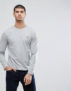 Read more about Original penguin long sleeve top small logo slim fit in grey marl - rain heather