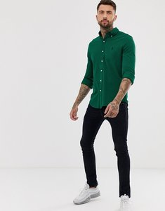 Read more about Polo ralph lauren slim fit pique shirt with button down collar in green