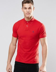 Read more about Polo ralph lauren plain logo slim fit polo - red