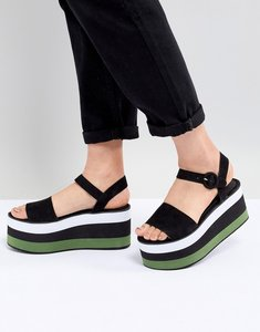 Read more about Pull bear flatform sandal in colourblock - multi