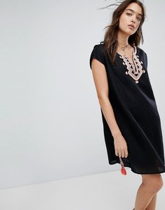 a75d1766dde6d Read more about Seafolly embroidered linen blend beach cover up - black