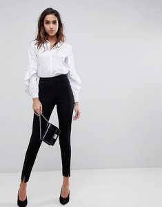 Read more about Missguided skinny fit cigarette trousers - black