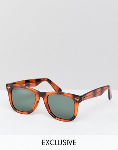 fd6f5aa4406 Read more about Reclaimed vintage inspired square sunglasses in tort  exclusive to asos - tort