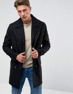 Read more about French connection wool pea coat - black
