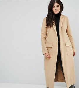 Read more about Alice you relaxed cocoon coat - camel