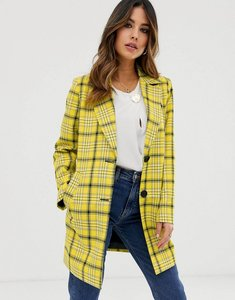 Read more about Asos design check cropped slim coat - multi