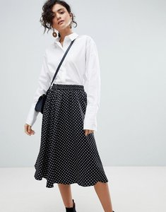 Read more about Selected polka dot midi skirt - multi