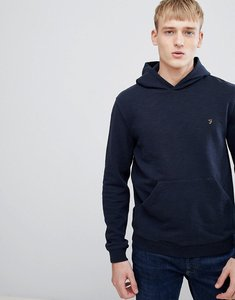 Read more about Farah ayr slim fit loop back hoodie in navy - 412