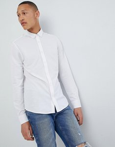 Read more about Only sons slim fit pique shirt - white