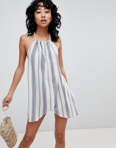 Read more about Asos design stripe rope tie layered beach dress - stripe