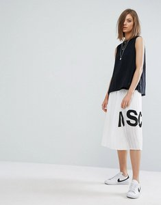 Read more about Moss copenhagen pleated midi skirt - white
